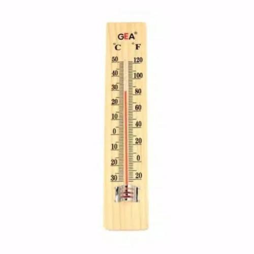 Foto Produk Thermometer kayu GEA Termometer ruangan kayu Termometer dinding kayu dari Tokita168