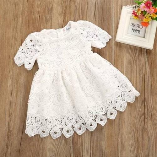 Foto Produk dress bayi perempuan motif full lace putih cantik dari KALLITA SHOP