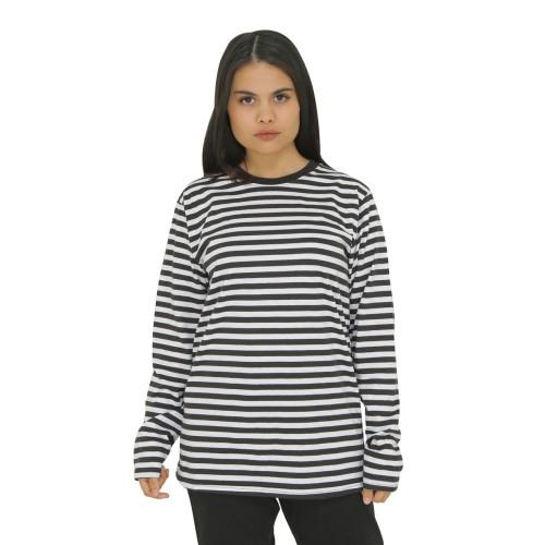Foto Produk Kaos Lengan Panjang Garis Stripes Unisex Katun Premium Quality dari Daily Outfits DYO