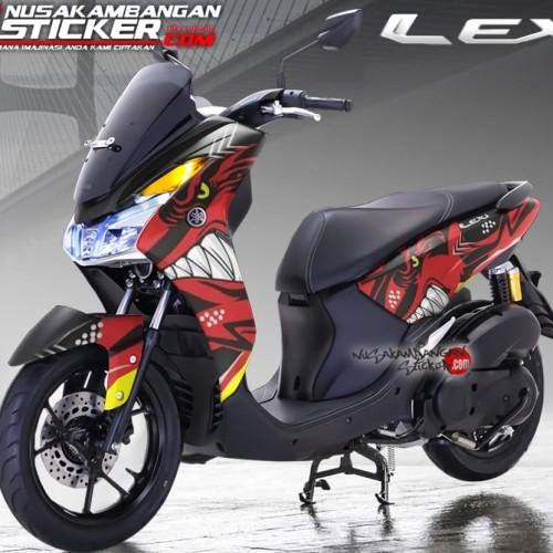 Foto Produk Decal Motor Sticker Motor Yamaha Lexi Shark Merah dari Nusakambangan Sticker01