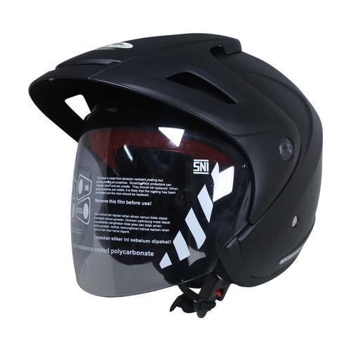 Foto Produk Cargloss CX Helm Half Face - Deep Black SG Doff - All Size dari Helm Cargloss
