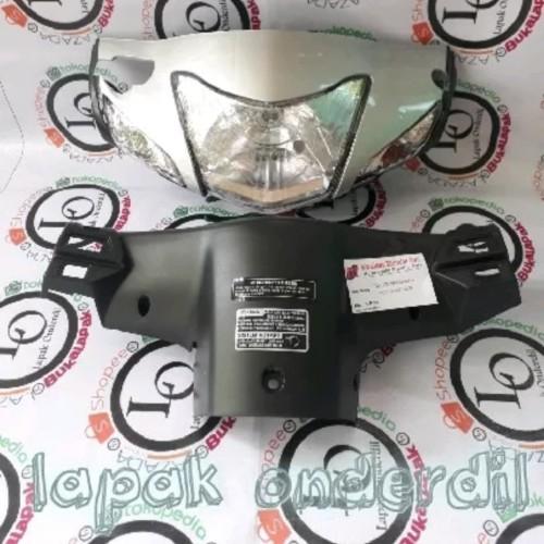 Foto Produk batok kepala depan belakang supra fit new plus sen reflektor silver dari ONDERDIL MOTOR PEDIA