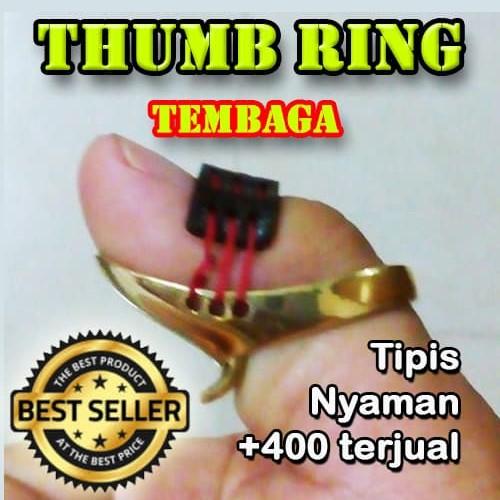 Foto Produk Thumb Ring Horsebow Tembaga   Thumbring Horse Bow   Panahan Tradision - 16x17 dari Tamania Garage Sell