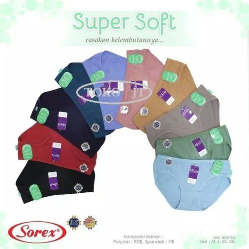 Foto Produk Celana Dalam Mini Sorex Super Soft Cotton 7521 M/L/XL/XXL (6 Pcs) dari Toko JT