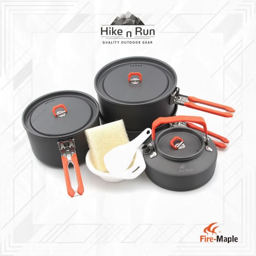 Foto Produk Fire Maple FEAST4 Camping Cookware Pot Sets - Hitam dari Hike n Run