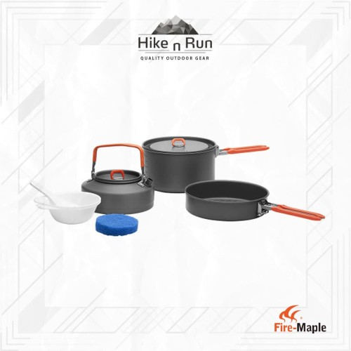 Foto Produk Fire Maple Feast-2 Camping Cookware Pot Sets - Orange dari Hike n Run