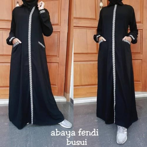 Foto Produk Abaya Gamis Bordir Fendi Busui Dress Muslim Fashion Style - DABShop dari DABS'hop