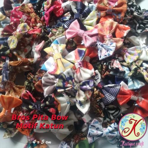 Foto Produk Aplikasi Pita Bow Katun dari Kutique Craft