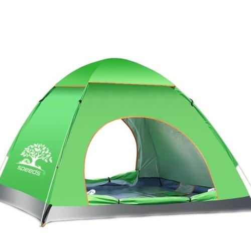Foto Produk Tenda Camping Outdoor Pantai Dewasa Otomatis 3-4 Orang Waterproof 002 - Orange dari lbagstore