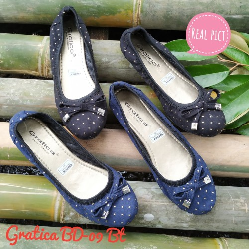 Foto Produk Sepatu wanita Flat shoes Gratica Bd-09 Bt sol full karet - Hitam, 40 dari Grosir Sepatu Gratica