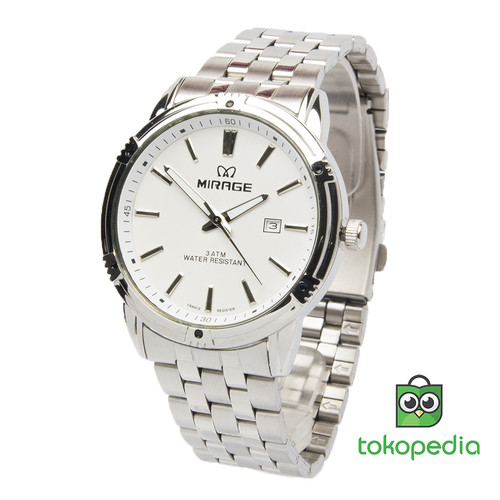 Foto Produk Jam Tangan pria Original Tahan Air Mirage 8602 - Putih dari Mirage Watch