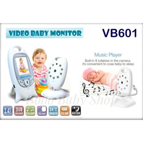 Foto Produk NEW Color Video Baby Monitor VB601 Night Vision 2.0 Inch - 2 Way Talk dari bobo baby shop