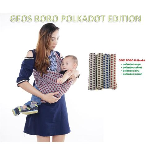 Foto Produk Gendongan Kaos POLKADOT Bobo | Geos Anak Bayi Motif Premium dari bobo baby shop