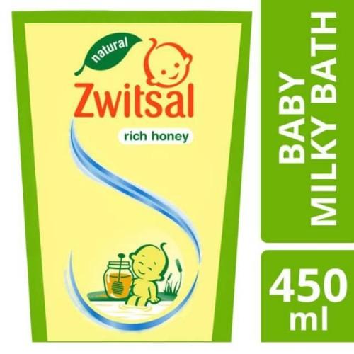 Foto Produk ZwitsaL Baby Bath Milk & Honey Pouch 450ml dari KaiKhan Shop