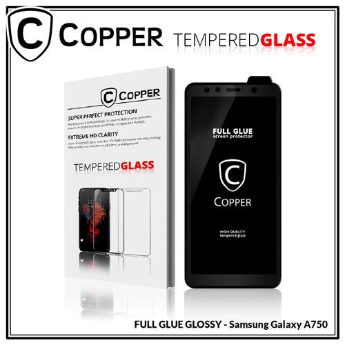 Foto Produk Samsung A7 2018 / A750 -Tempered Glass Full Glue PREMIUM Glossy COPPER dari Copper Indonesia