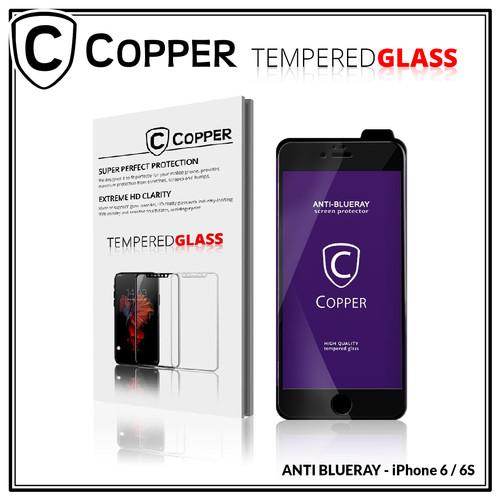 Foto Produk Iphone 6 / 6S - COPPER Tempered Glass ANTI-BLUERAY (Full Glue) - Hitam dari Copper Indonesia