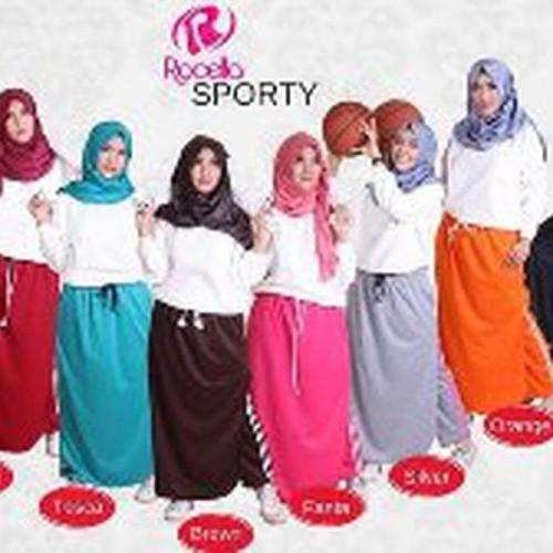 Foto Produk DISKONMURAH Rocella Sporty Rok Celana Olahraga Senam S TERBARU dari Desi Elawati