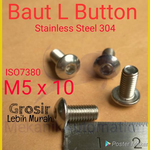 Foto Produk Baut L button M5 x 10 SS304 dari MekanikAutomation
