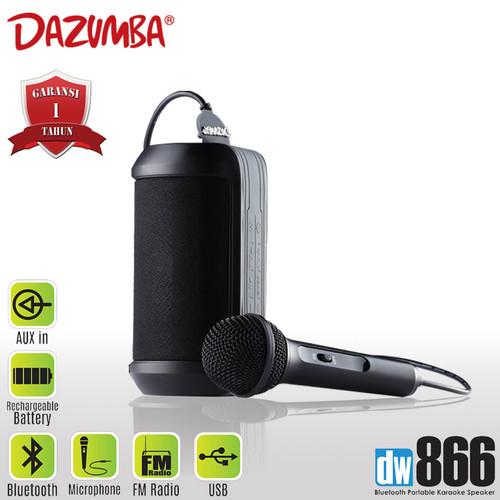 Foto Produk Dazumba DW866 Portable Karaoke Speaker Bluetooth - Hitam [FS] dari Dazumba Official Store