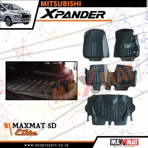 Foto Produk Karpet mobil maxmat 5d tipe elite black Xpander 2018-2019 dari Mega Oriental Motor
