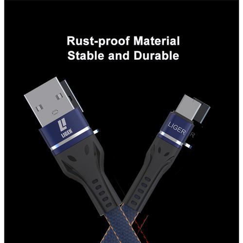 Foto Produk LIGER L-130 Kabel Data Fast Charging Denim USB - TIPE C - Biru dari LIGER OFFICIAL STORE