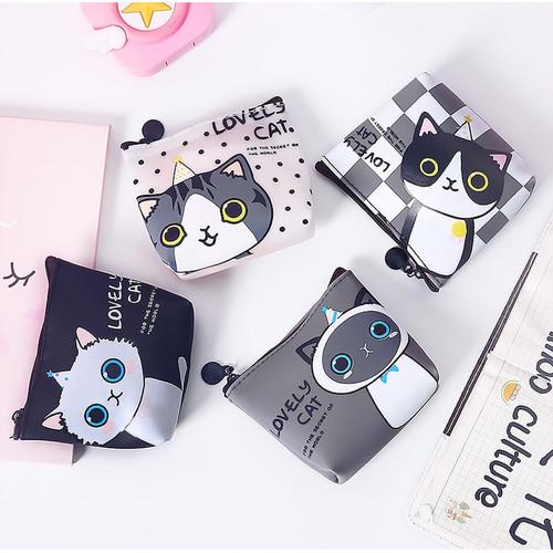 Foto Produk DK009 Dompet Koin Cute Cat / Coin Wallet Kucing Lucu / Tempat Kosmetik - Cute cat C dari EnnWen Online Store