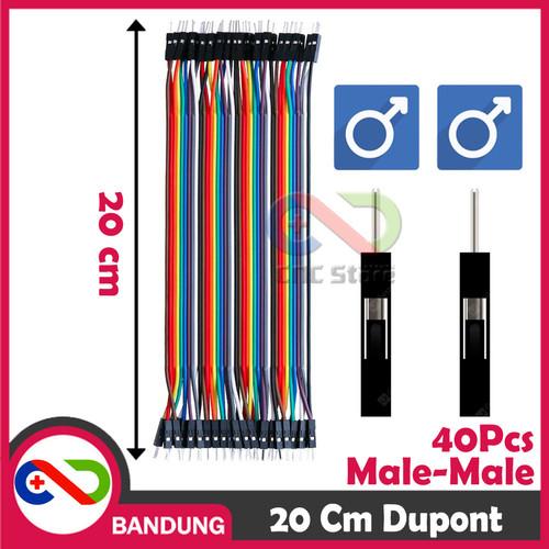 Foto Produk 40PCS JUMPER CABLE KABEL 20CM MALE TO MALE DUPONT 40PCS dari CNC STORE BANDUNG