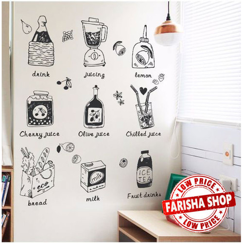 Foto Produk Juice And Food XL7237 - Stiker Dinding / Wall Sticker (50x70) dari farisha shop