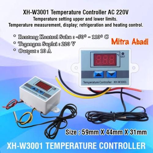 Foto Produk XH-W3001 Digital Temperature Controller AC 220V dari Toko Mitra Abadi