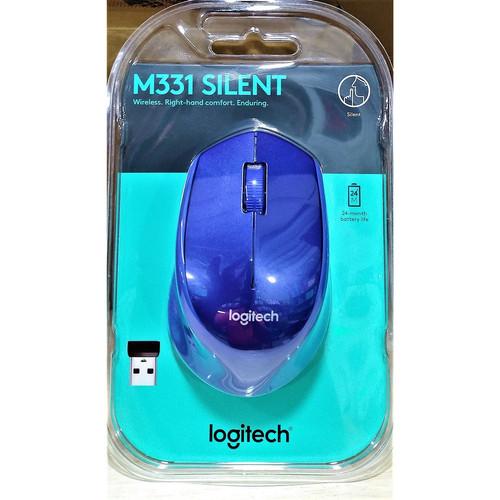 Foto Produk Mouse Wireless Logitech M331 M 331 Silent Plus. Replace Logitech M280 - Hitam dari Eagle High Technology