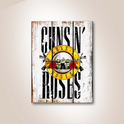 Foto Produk Guns N Roses GNR Poster Kayu Pajangan Dekorasi Dinding instagramable dari Cakep-Production