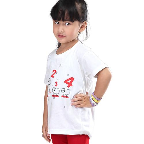 Foto Produk IK 4IRM22 T-Shirt Baju Kaos Atasan Anak Perempuan Cantik Murah Ori dari PASGAYANA STALL