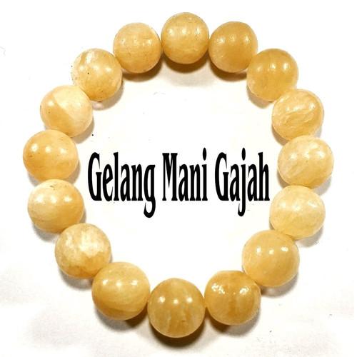 Foto Produk GELANG BATU NATURAL YELLOW MAN* GAJAH dari Poetra Gems Stone
