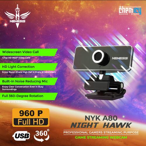 Foto Produk NYK A80 Night Hawk HD Streaming Webcam dari Chemicy Gaming