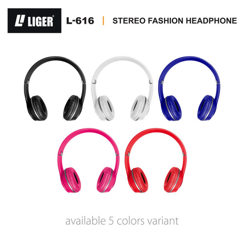 Foto Produk LIGER L-616 Headset Headphone Earphone Handsfree Bass with Mic - Biru dari LIGER OFFICIAL STORE