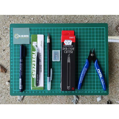 Foto Produk Gunpla Tool Set Paket A4 Basic - Alat Rakit Gundam Model Kit Tool dari Ota Heaven