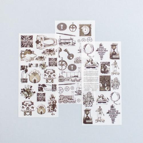 Foto Produk Rub-on Sticker Vintage Decorative Ornaments dari gudily