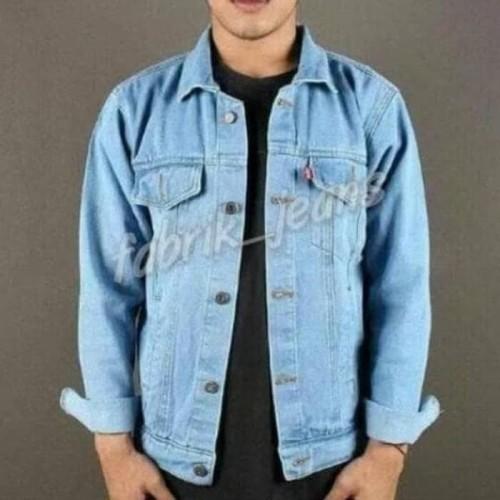 Foto Produk Terlaris Jaket Jeans (Promo) Jaket Levis Cowok Bioblitz / Jaket Jeans dari Rina Nurliana1