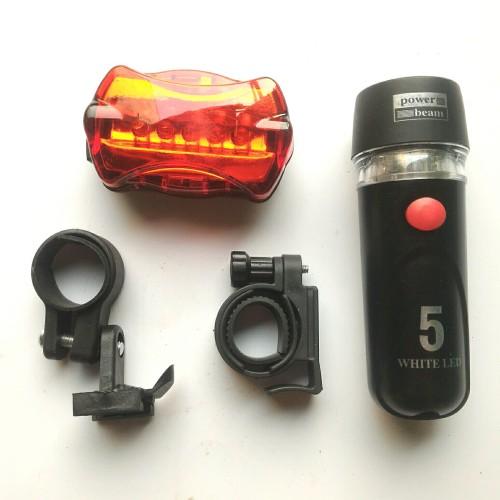 Foto Produk Bicycle 5 LED Lamp / Lampu Sepeda Depan & Belakang / Senter Sepeda dari agungcycle