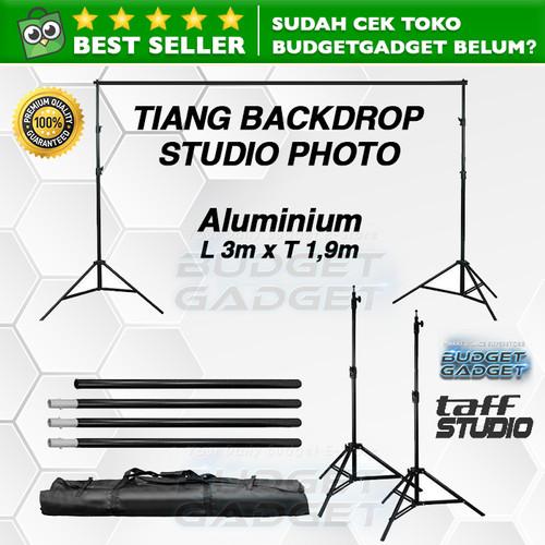 Foto Produk Bracket Stand 10ft untuk Backdrop Tiang Stand Background Foto Studio dari BudgetGadget
