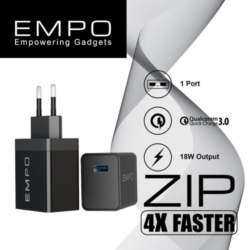 Foto Produk EMPO ZIP Quick Charge 3.0 Wall Charger Fast Charging 1 Port dari EMPO