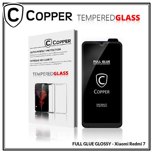 Foto Produk Xiaomi Redmi 7 - COPPER Tempered Glass Full Glue PREMIUM dari Copper Indonesia