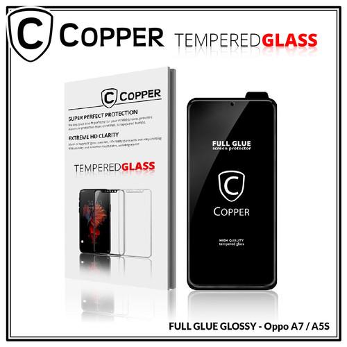 Foto Produk Oppo A7 / A5s - COPPER Tempered Glass Full Glue PREMIUM Glossy dari Copper Indonesia