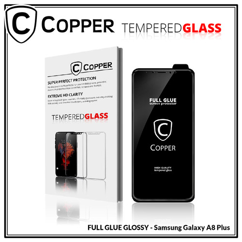 Foto Produk Samsung A8 plus - COPPER Tempered Glass Full Glue PREMIUM Glossy dari Copper Indonesia