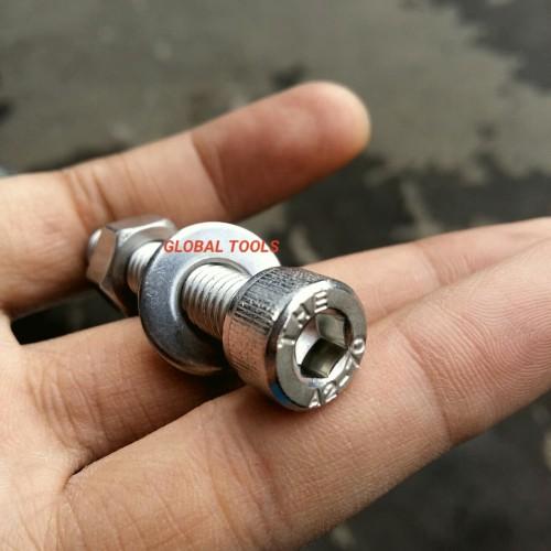 Foto Produk Baut L stainless m8 x 25 baut L ss 8x25 baut 12 baut L6 baut ss 304 dari Global Tools