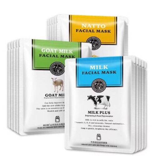 Foto Produk ROREC GOAT MILK PLUS NATTO FACIAL MASK MASKER SUSU SAPI KAMBING - Milk Plus Cow dari Bursa Cosmetik Murah
