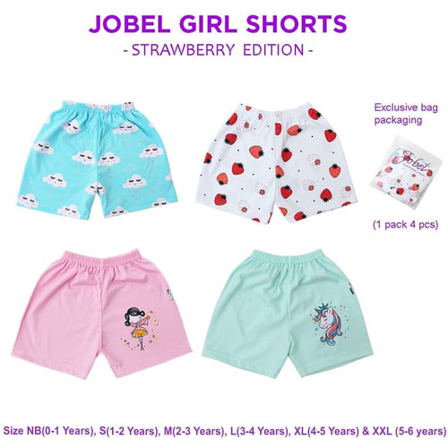 Foto Produk JOBEL Bloomer 4pcs Celana Pendek Anak Perempuan Baby Girl Short - S 1-2thn dari ANINDHITA Clodishop