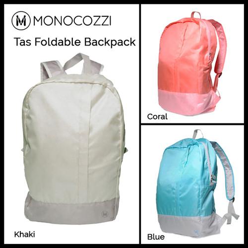 Foto Produk Monocozzi Tas Foldable Duffle Bag Ransel Backpack - Khaki dari Originalroom