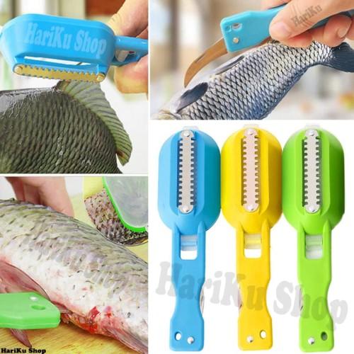 Foto Produk Alat Pembersih Sisik Ikan Besi + Pisau dengan Tempat Pembuangan - X040 dari HARIKU Shop