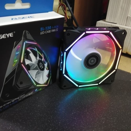 Foto Produk Alseye Pentagon 12cm Fan Casing LED Auto RGB Fan Case Pentagon RGB dari scriptechnology